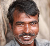 Indian Man. NIMAJ BAGH, INDIA, FEBRUARY 28: An unidentified man inside the village of Nimaj Bagh, Rajasthan, Northern India on FEBRUARY 28, 2012. The village has Royalty Free Stock Images