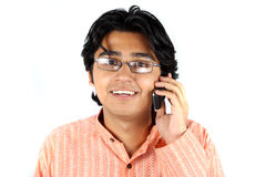 Indian Man on Phone Royalty Free Stock Photography