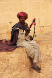 Indian man playing ravanahatha at Jaisalmer fort, India Stock Images