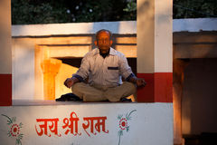 Indian man praying or yoga Royalty Free Stock Images