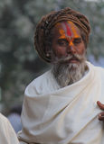 Indian man with rasta and the tipycal tilak Stock Image