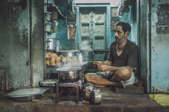 Indian man selling chai Royalty Free Stock Image