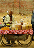 Indian man selling goods, Delhi Stock Images