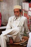 Indian man sitting at Sadar Market, Jodhpur, India Royalty Free Stock Photos
