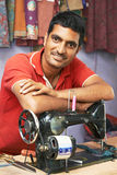 Indian man tailor portrait Royalty Free Stock Image