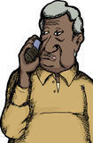 Indian Man on Telephone Stock Image