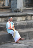 Indian man in temple Stock Photography