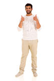 Indian man thumbs up Royalty Free Stock Photo