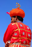 Indian man in traditional clothes taking part in Desert Festival Royalty Free Stock Photos