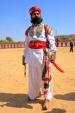 Indian man in traditional dress taking part in Mr Desert competition, Jaisalmer, India. Indian man in traditional dress taking part in Mr Desert competition royalty free stock photography