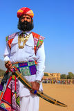 Indian man in traditional dress taking part in Mr Desert competition, Jaisalmer, India. Indian man in traditional dress taking part in Mr Desert competition stock image