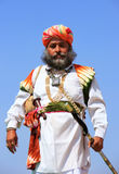 Indian man in traditional dress taking part in Mr Desert competition, Jaisalmer, India. Indian man in traditional dress taking part in Mr Desert competition royalty free stock photo