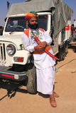 Indian man in traditional dress taking part in Mr Desert competition, Jaisalmer, India. Indian man in traditional dress taking part in Mr Desert competition stock images