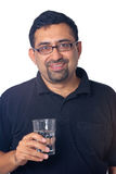Indian man water Stock Photo