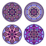 Indian mandala set Royalty Free Stock Photos