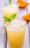 Indian Mango Granita-Aam Panna. Fresh mango juice,concentrated natural pure and refreshing summer drink made with green mangoes and soda or water -Aam Panna Royalty Free Stock Photo