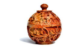Indian marble jar artefact Royalty Free Stock Image