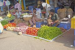 At the Indian market Royalty Free Stock Photography