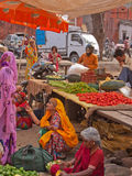 Indian Market Scene Stock Photo