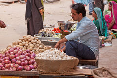 Indian Market Traders Royalty Free Stock Photo