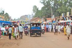 Indian market in a village Royalty Free Stock Photography