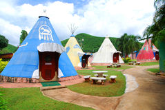 Indian marquee style resort Stock Image