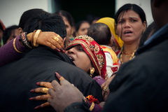 Indian Marriage emotional moment Royalty Free Stock Photo