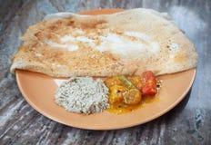 Indian masala dosa stock photo