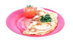 Indian masala omelette Stock Photo