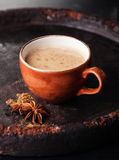 Indian masala tea with spices Royalty Free Stock Image
