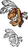 Indian Mascot Vector Logo Royalty Free Stock Images