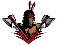 Indian Mascot Vector Logo Royalty Free Stock Photography