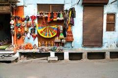 Indian mask shop Royalty Free Stock Image