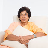Indian mature woman portrait Stock Photography