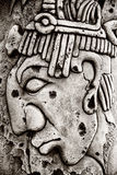 Indian mayan carved in stone Stock Photography