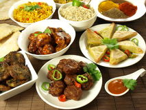 Indian meal Stock Image