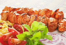 Indian Meal Chicken Tikka Stock Photo