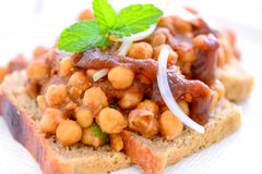 Indian meal -Chole dabal Royalty Free Stock Image