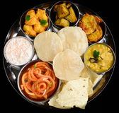 Indian meal or thaali royalty free stock images