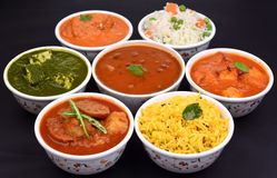 Indian Meal Vegetarian Stock Photos