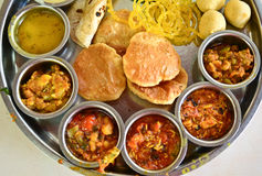 Indian meal vegetarian dinner lunch Stock Photography