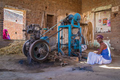 Indian mechanic Royalty Free Stock Images