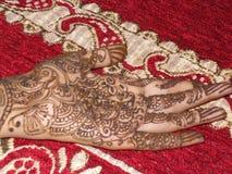 Indian mehndi  girl hand royalty free stock photos