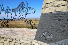 Indian Memorial at Little Bighorn Battlefield National Monument, Stock Image