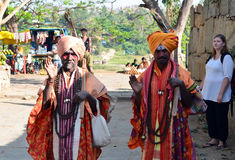 Indian men. Men on the street  in India, Goa Stock Photo