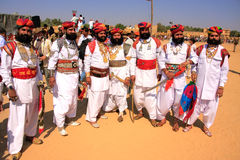 Indian men in traditional dress taking part in Mr Desert competition, Jaisalmer, India. Indian men in traditional dress taking part in Mr Desert competition stock photos
