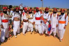 Indian men in traditional dress taking part in Mr Desert competition, Jaisalmer, India. Indian men in traditional dress taking part in Mr Desert competition royalty free stock photo