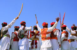 Indian men in traditional dress taking part in Mr Desert competition, Jaisalmer, India. Indian men in traditional dress taking part in Mr Desert competition stock image