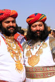 Indian men in traditional dress taking part in Mr Desert competition, Jaisalmer, India. Indian men in traditional dress taking part in Mr Desert competition royalty free stock photography