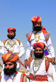 Indian men in traditional dress taking part in Mr Desert competition, Jaisalmer, India. Indian men in traditional dress taking part in Mr Desert competition royalty free stock image